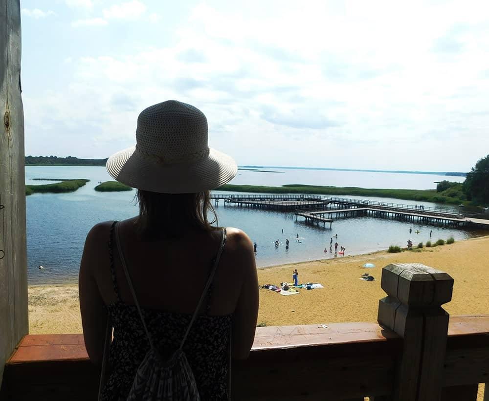 wieża widokowa plaża bondary zalew siemianówka