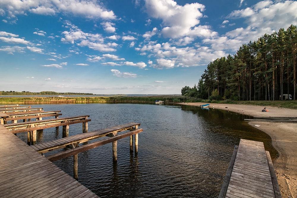majówka nad jeziorem