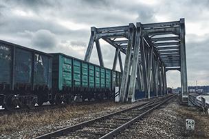 skład kolejowy nad siemianówką